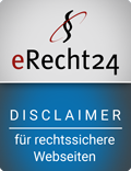 Siegel Disclaimer eRecht24